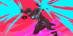 Tron-ish Iron Man