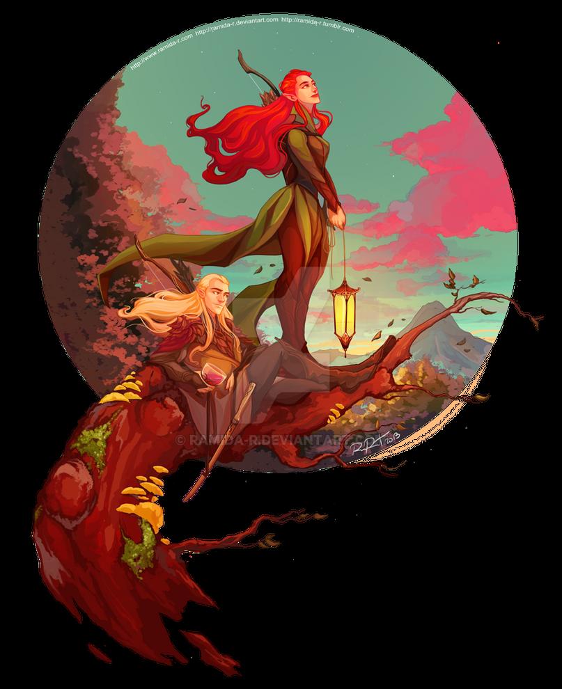 Legolas and Tauriel by ramida-r