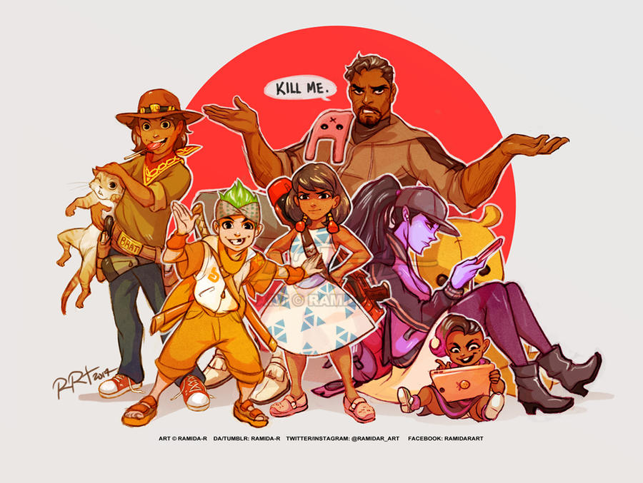 point overwatch au the reyes household by ramida r on deviantart