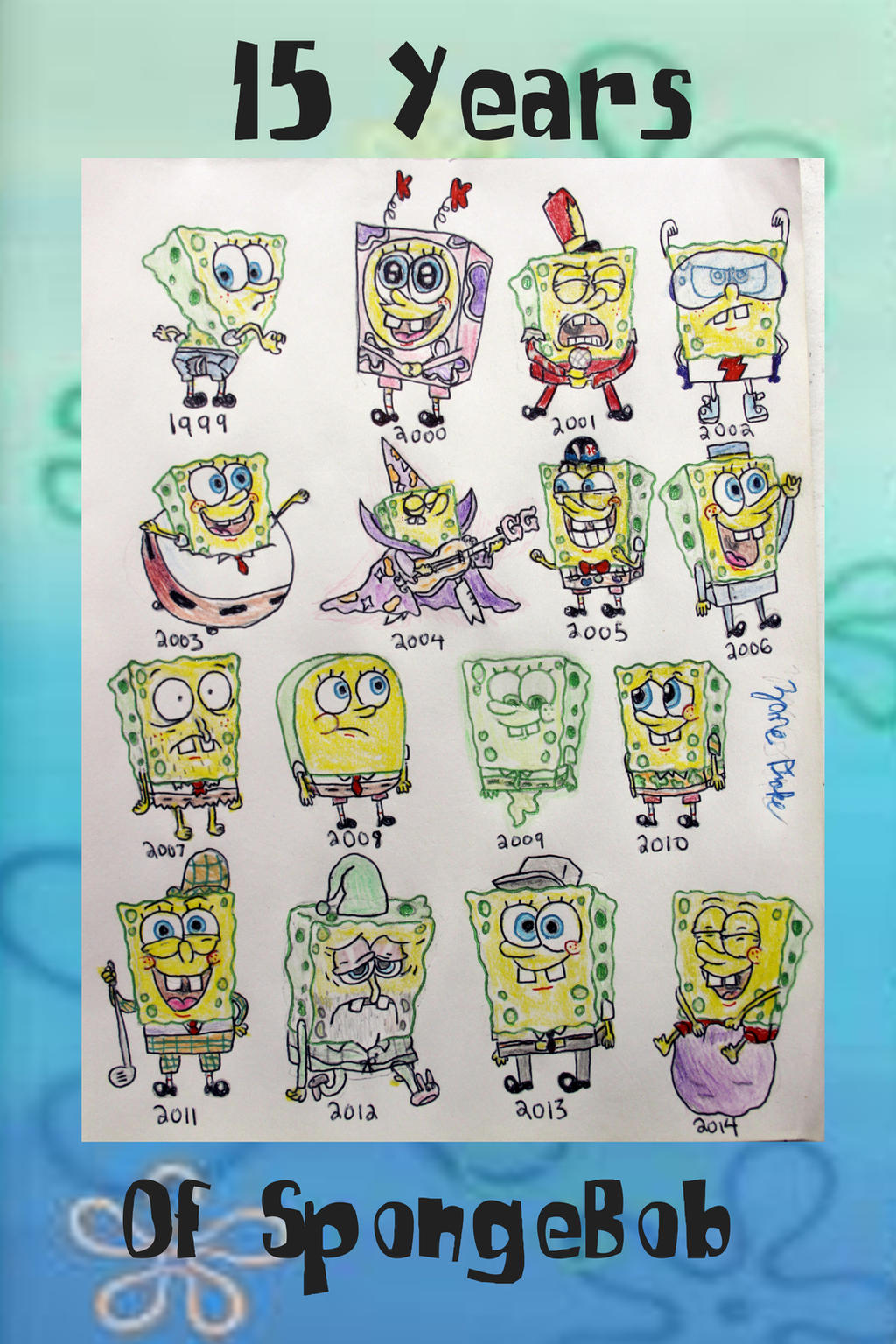 15 years of spongebob by zanedrake on deviantart