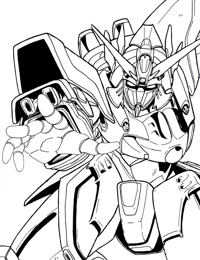 Deviantart coloring clubs - Shining Gundam Inky By Maximumoverdrive