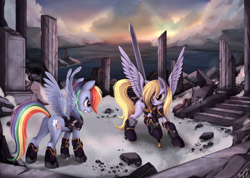 Full Armour D vs D by ponyKillerX