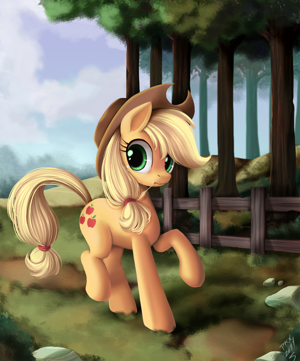 A background pony by ponyKillerX