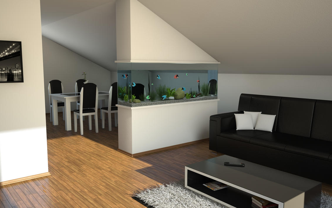 Living Room Aquarium By Slographic ...