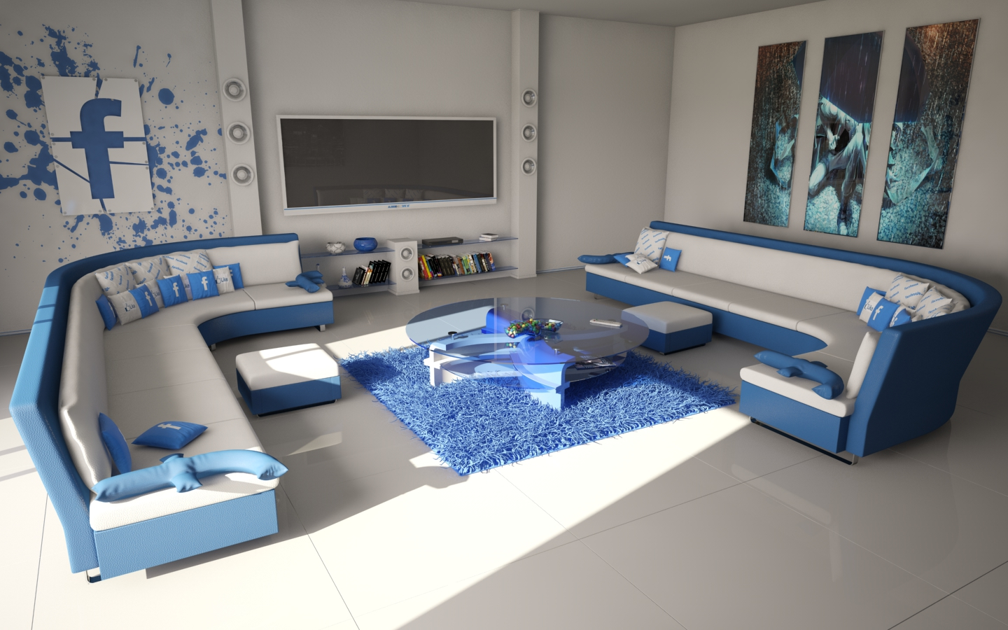 Facebook living room by slographic