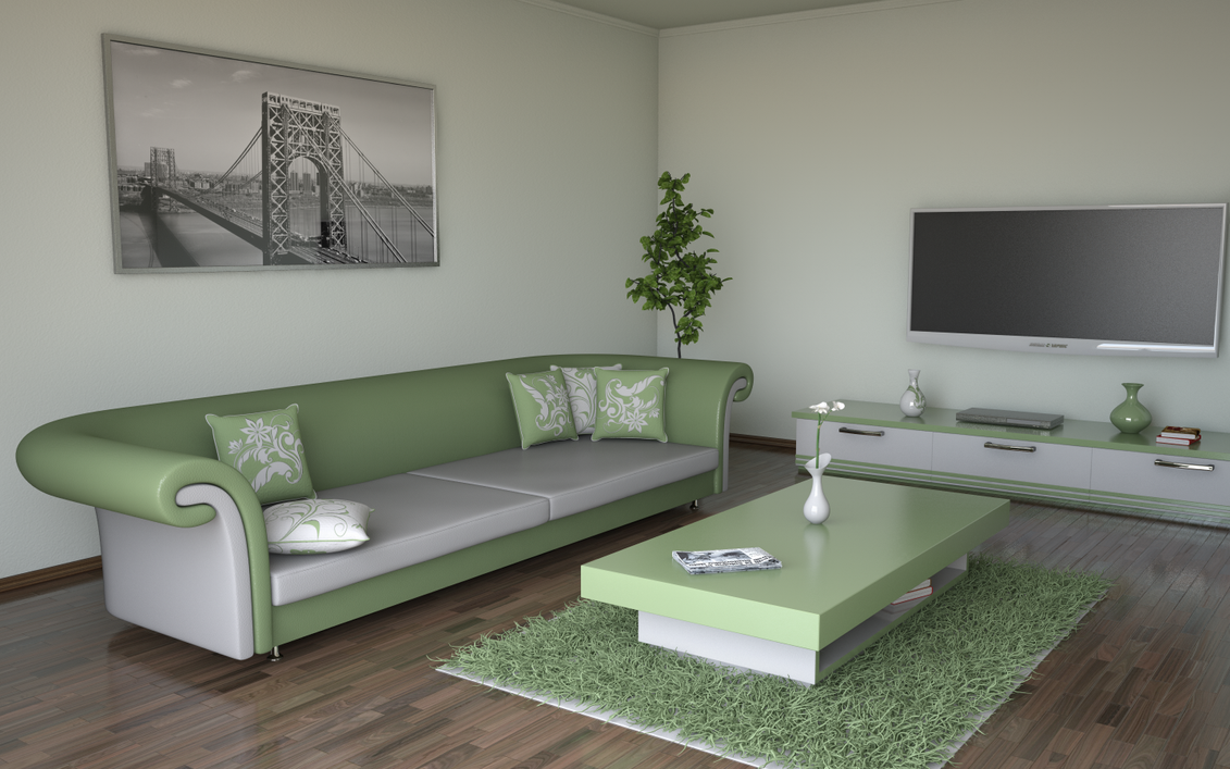 Living room olive by slographic