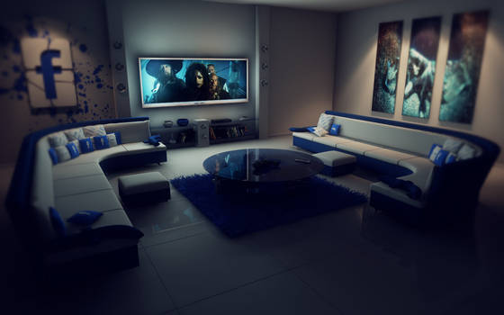 Facebook living room at night PS