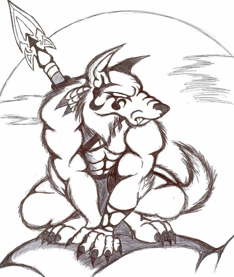 tribal werewolf designs
