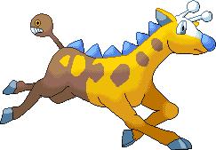 Shiny Girafarig Pixel-Over