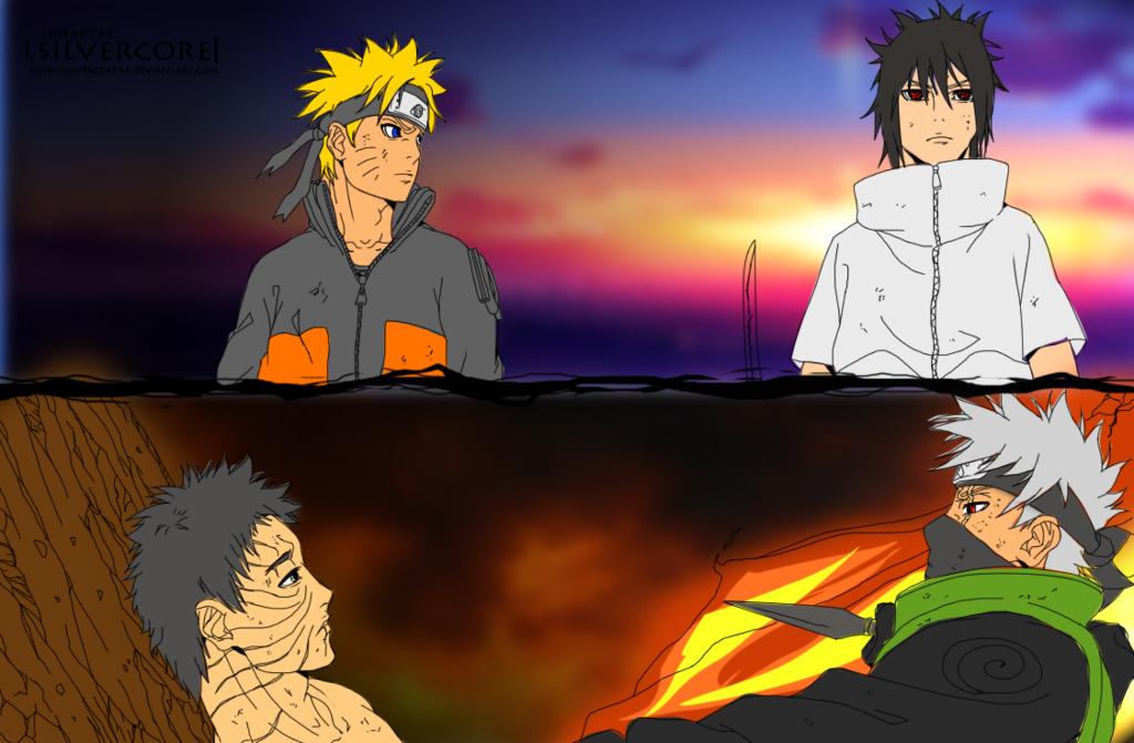 78+ Gambar Naruto Sasuke Dan Kakashi Paling Hist