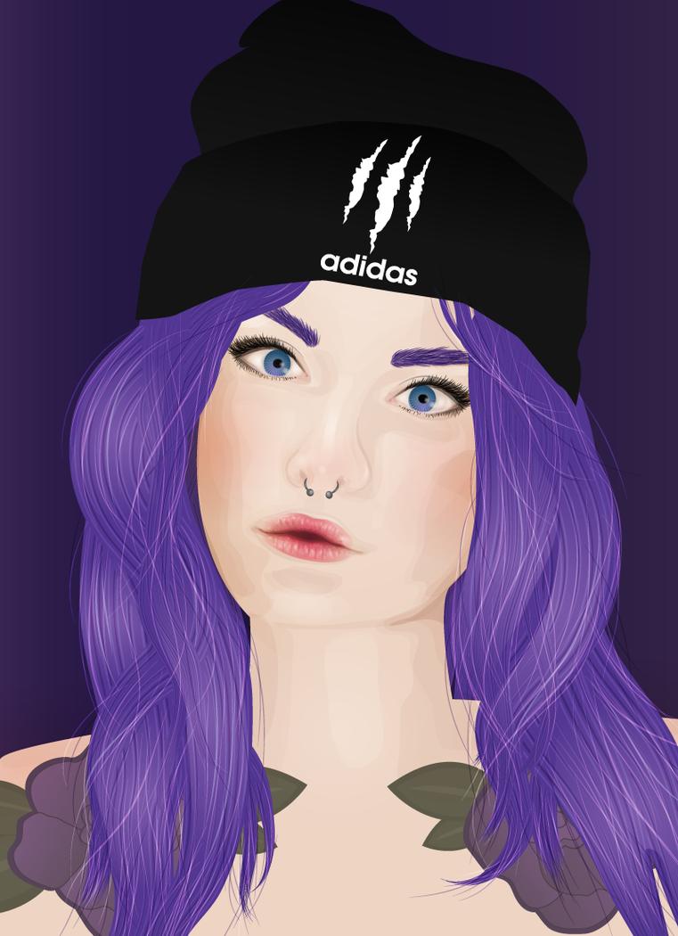 Adidas alt-girl by janinewashere