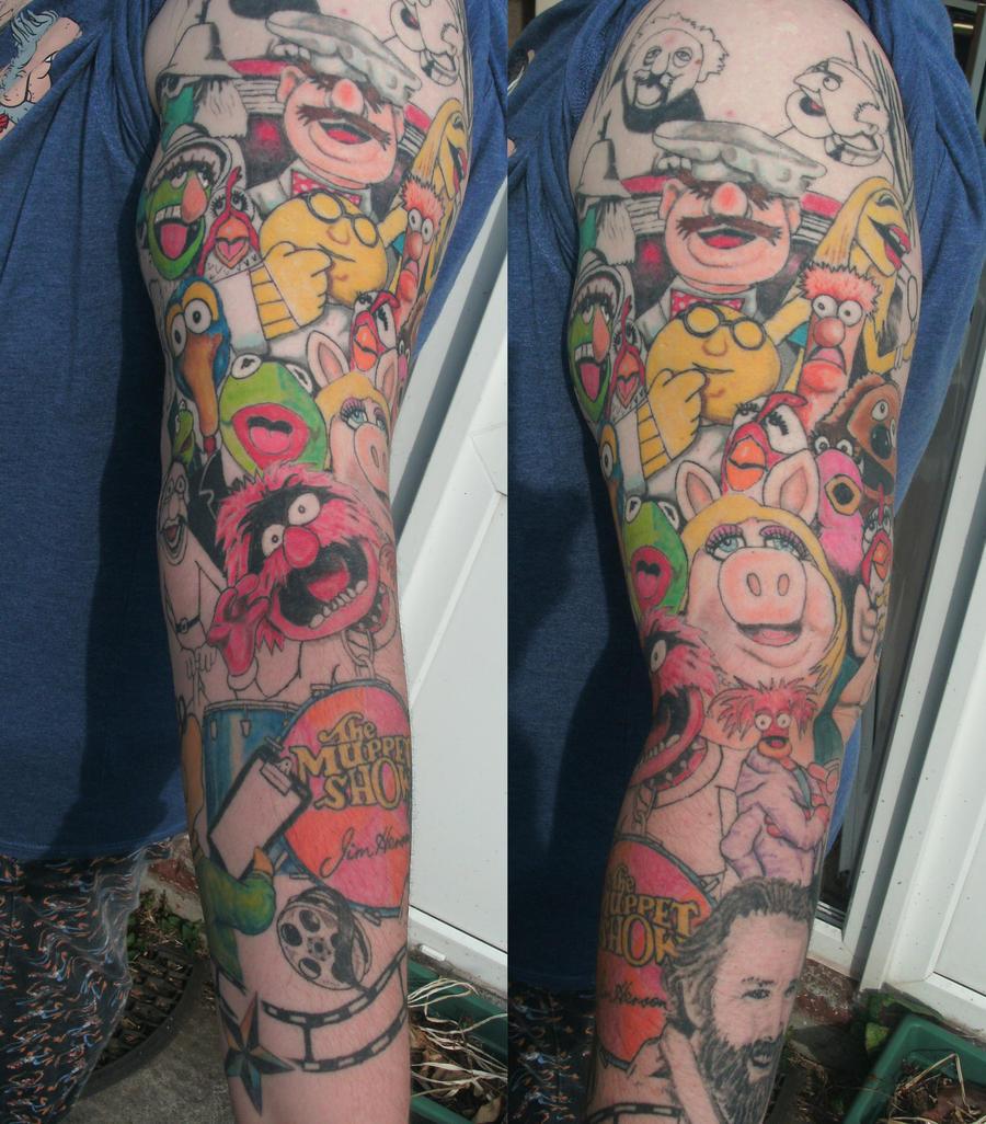 muppet show tattoo sleeve