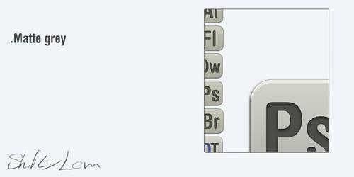 Matte grey icons WIP