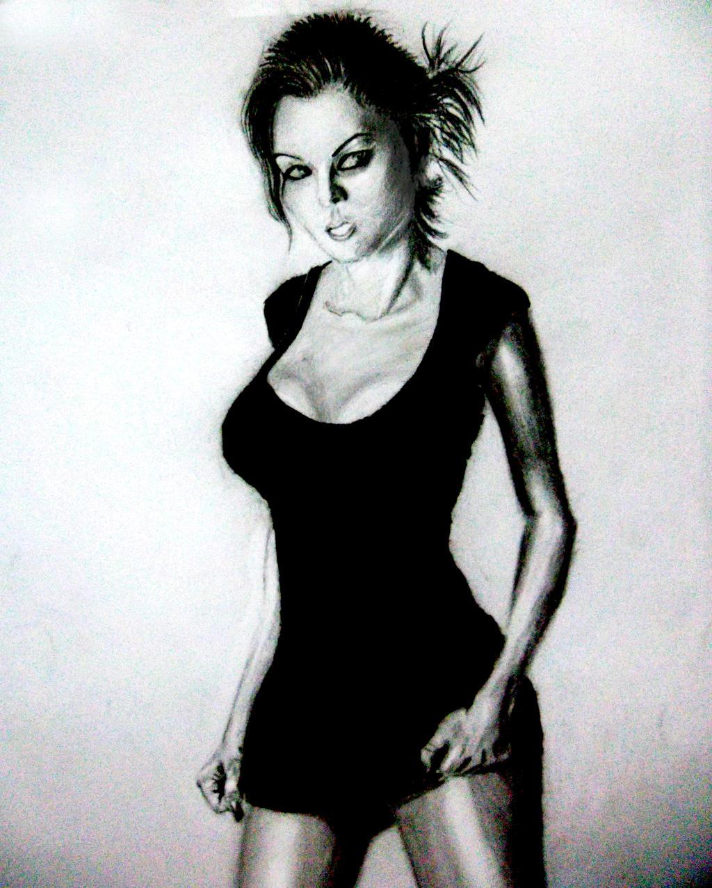 Girl In Black by alexkrat92