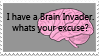 Brain Invader Stamp by Kawaiiwarrior
