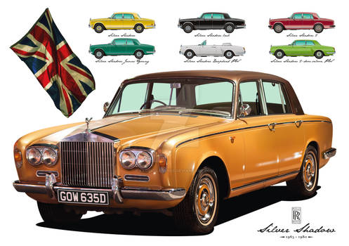 Rolls-Royce Silver Shadow - Vector Art