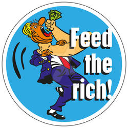 Sticker - Feed The Rich (part 7 of a new painting)