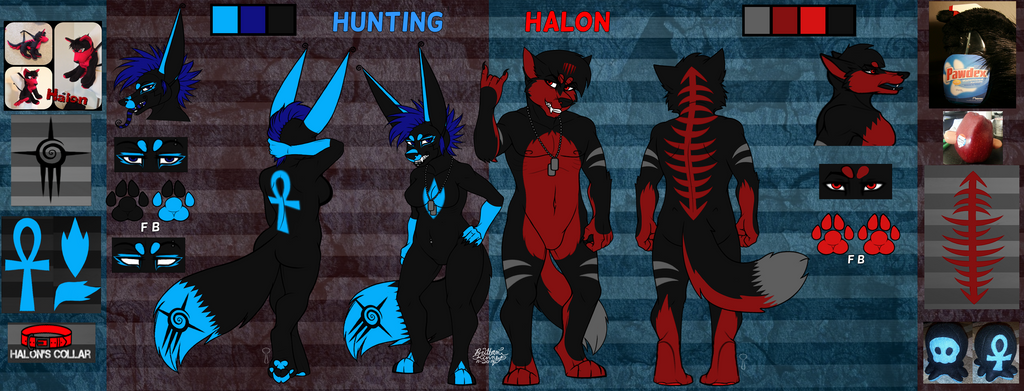 Hunting And Halon Ref by TheHuntingWolf
