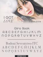 TAEYEON I GOT LOVE FONT by hyukhee05