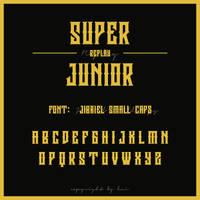 Super Junior Replay Logo Font by hyukhee05