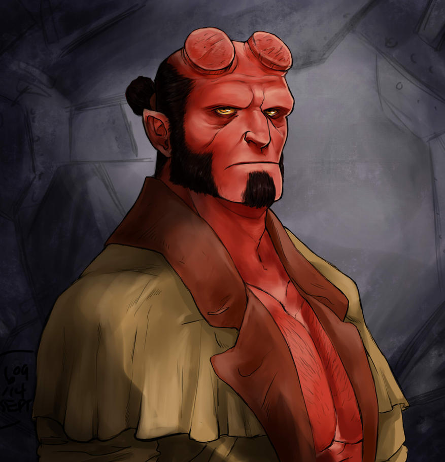 Hellboy bust by Kevin11s-girl