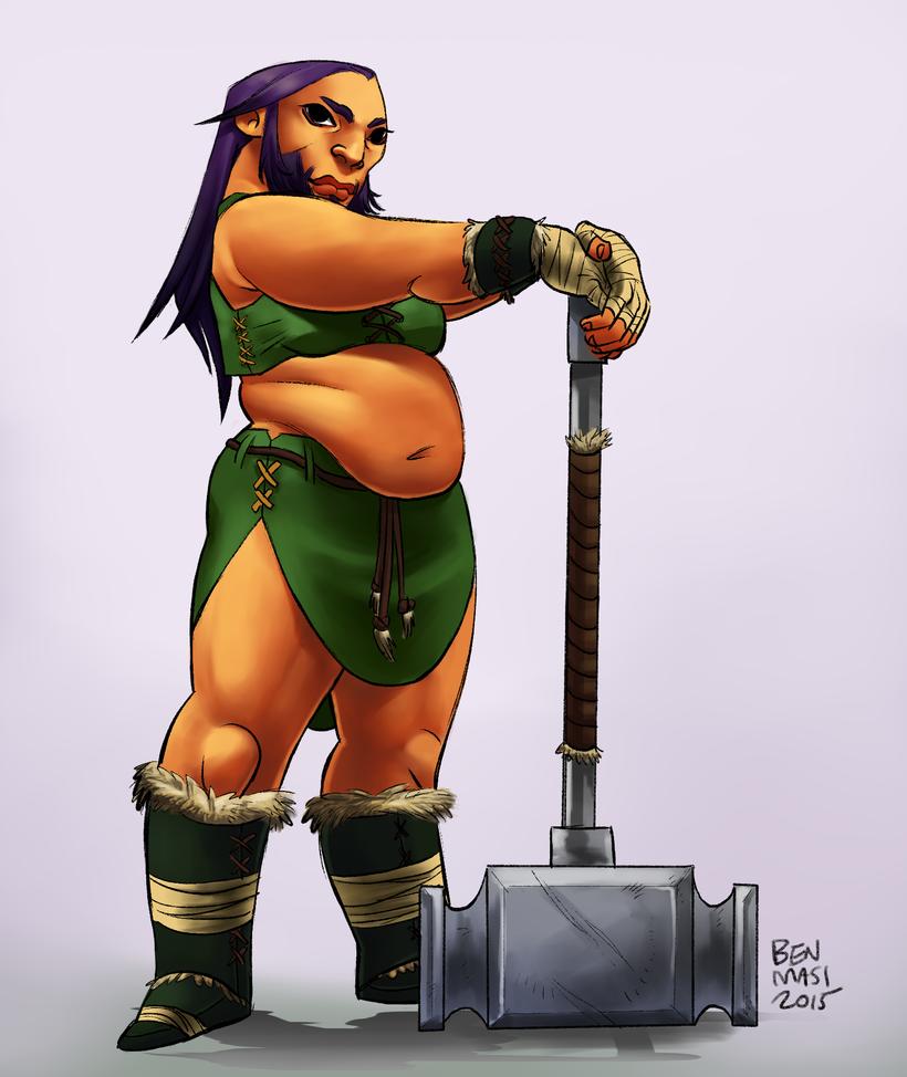 Dwarf Lady by Mainframe110