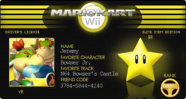 My Mario Kart Wii Licence By Bowserjrsmb On Deviantart
