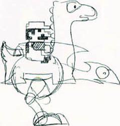 Early concept art of Yoshi by BowserJrSMB
