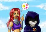 Starfire and Raven fanart