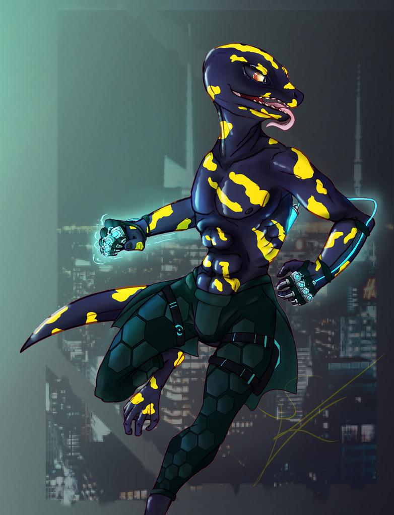 Axel Kondo - Street Fighter by DeadBird-Hushabye