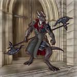 Viktor Ironheart - Daemon Hunter [Comm] by Souvillaine