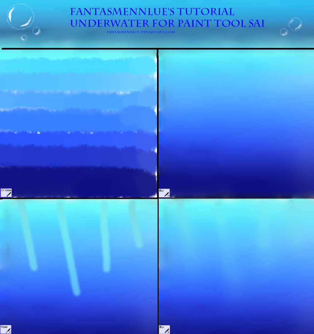 Underwater Tutorial For Sai by Fantasmennlue on DeviantArt