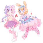 [Cm] Mamori and Madelyn by MagicStarADL