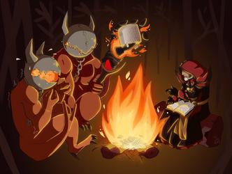 Commission - DOTA Warlock by ToastSamurai