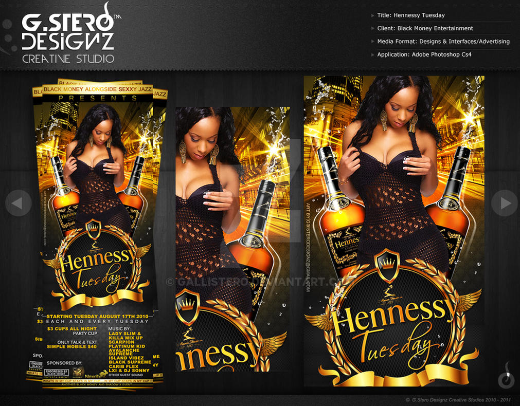Hennessy Tuesday-Front Party Flyer by Gallistero