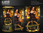 Hennessy Tuesday-Front Party Flyer