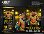 Yellow and Black Affair Party Flyer