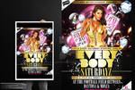 Every Body Saturday Party Flyer