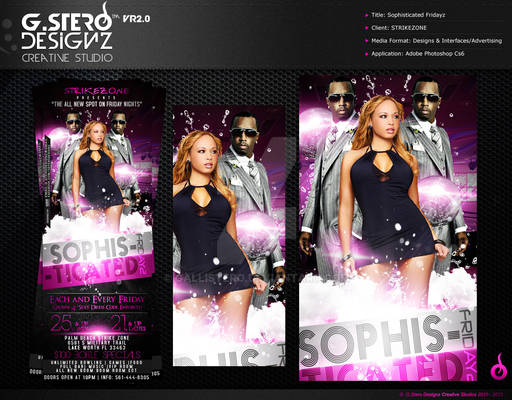 Sophisticated Fridayz Party Flyer