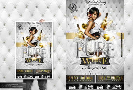 Pure White Edtition Party Flyer