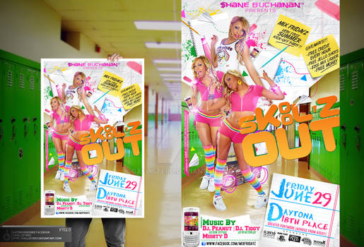 Skool'z Out Party Flyer