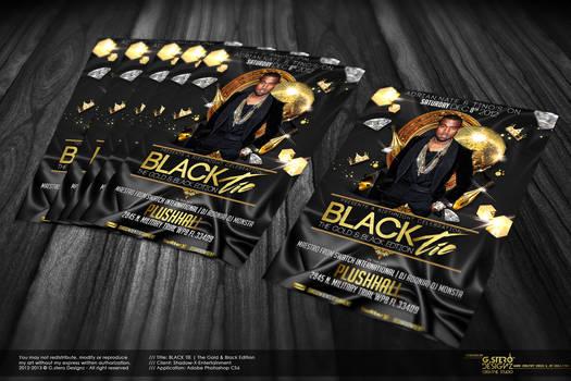Black Tie Party Flyer - Back