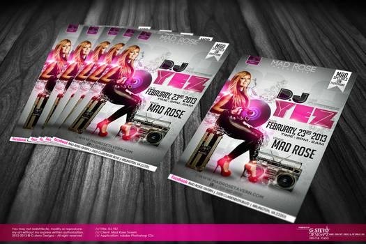 Dj Yez Party Flyer