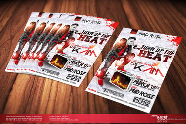 Turn Up The Heat | Dj Kam Party Flyer