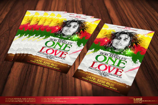 One Love Party Flyer Vr 2