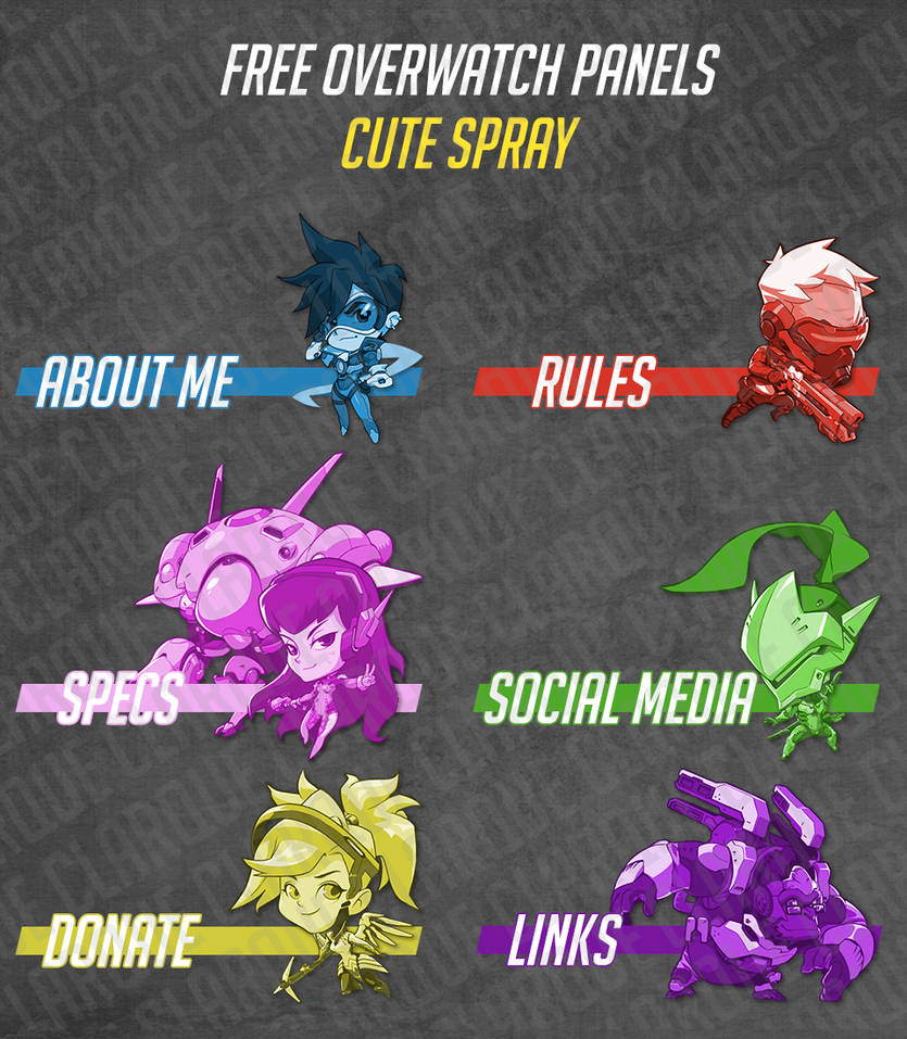 Free Twitch Panels - Overwatch Cute Spray by clarque-gd on DeviantArt