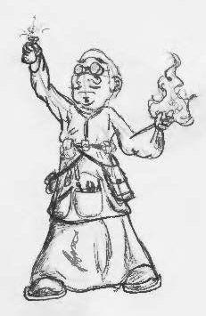 Gnome Alchemist Wizard by unanimatedew