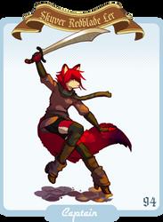 Captain Skyver Redblade by Skyverfox