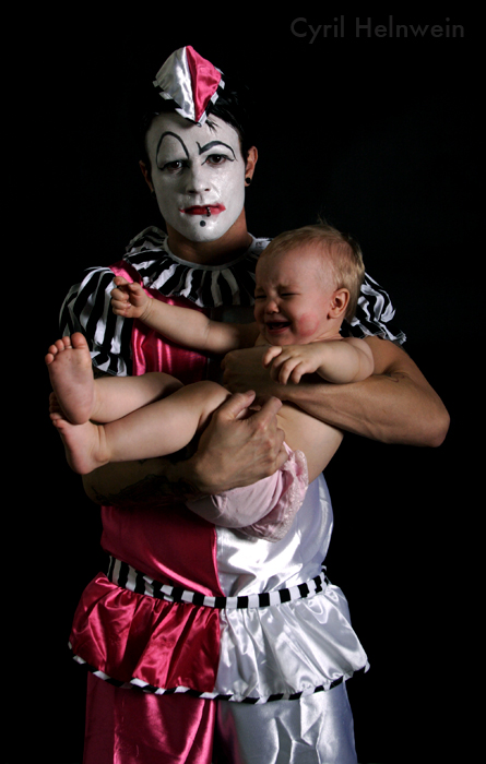 White Clown by Cyril-Helnwein