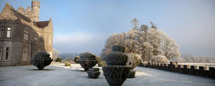 Gurteen Castle in the Winter 1 by Cyril-Helnwein